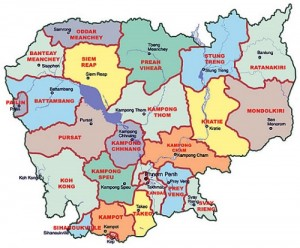 แผนที่ประเทศกัมพูชา